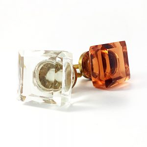 Square Solid Glass Knob