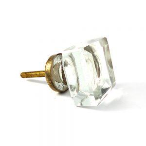 Square Solid Glass Knob
