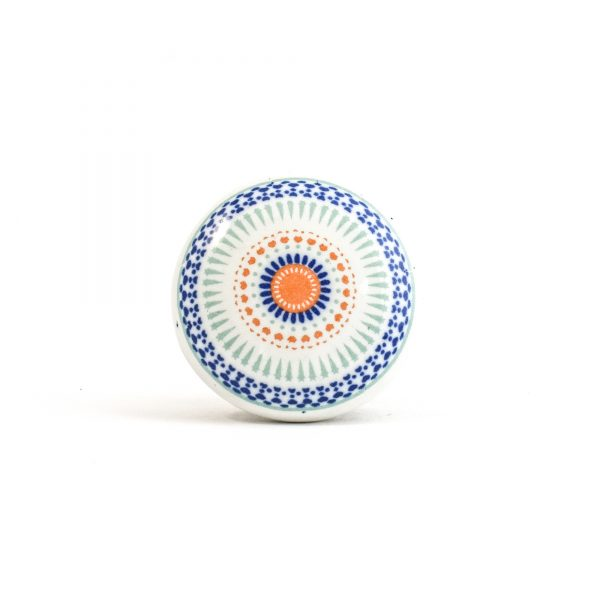 Round Ceramic Dotted Flower Knob