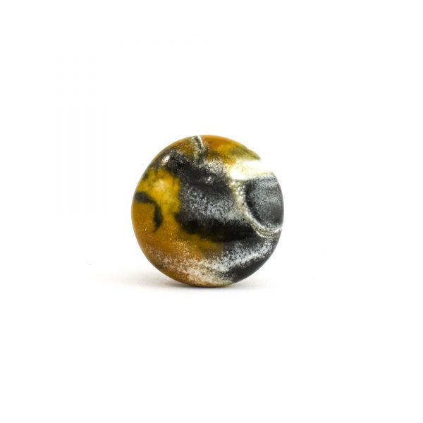 Black White and Brown Swirled Ceramic Knob