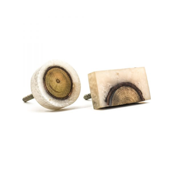 Resin and Timber Rectangle Knob