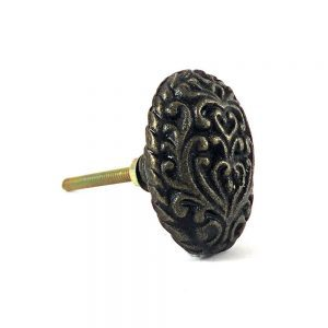 Antiqued Iron Paisley Knob