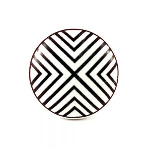 Black and White Ceramic Knob