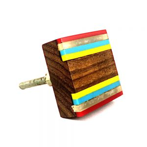 Multicoloured Striped Knob