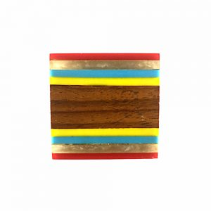 Multicoloured Striped Knob (Set of 3)