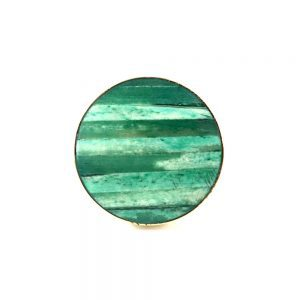 Round Layered Knob Green