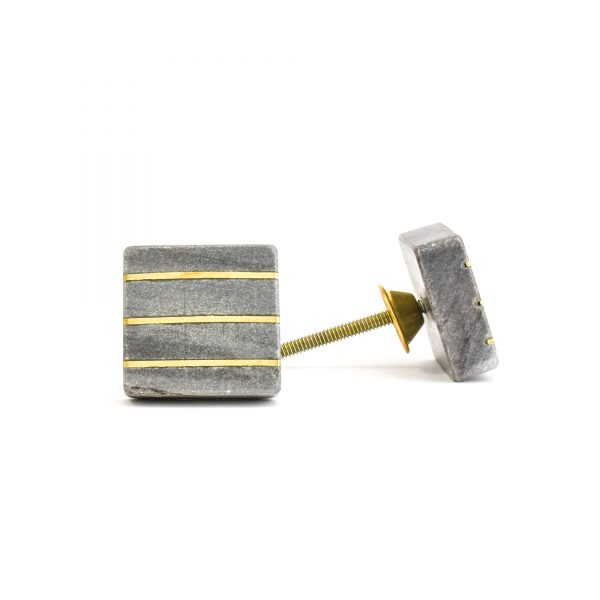 Marble and Brass Lined Knob