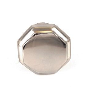 Chrome Hexagon Solid Brass Knob