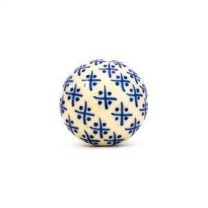 DSC 0162 Cream Hampton knob 300x300 - Blue and Cream Hamptons Ceramic Knob