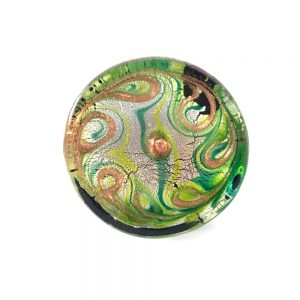 Peacock Feather Round Glass Knob 1