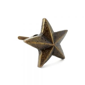 Antique Gold Star Knob 1