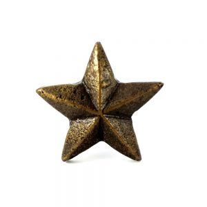 antique gold star knob 3 300x300 c - Shop for Cabinet Handles, Cabinet Pulls & Wall Hooks