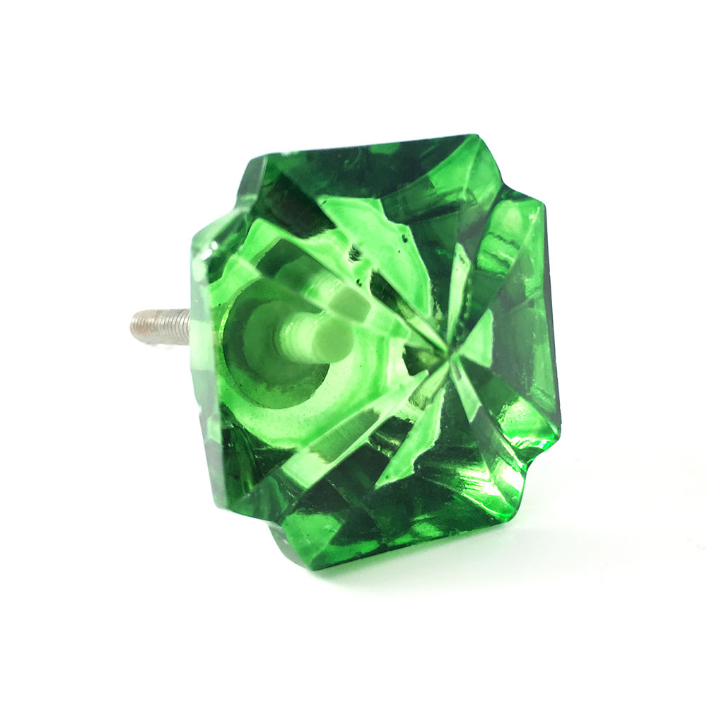 Emerald Green Glass Knob Shop For Cabinet Knobs Online