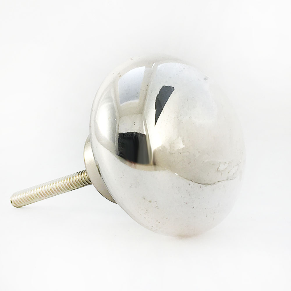 Large Round Silver Glass Knob Shop For Cabinet Knobs Online