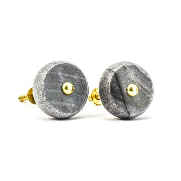 Grey Sand Wash Marble Knob