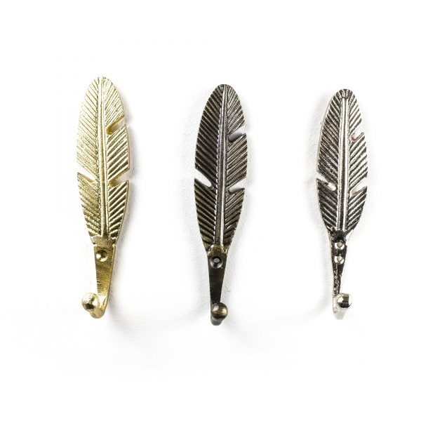 Gold Feather Wall Hook