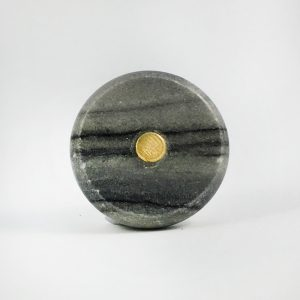Grey Marble And Brass Knob 1