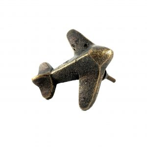 Antique Gold Vintage Airplane Knob