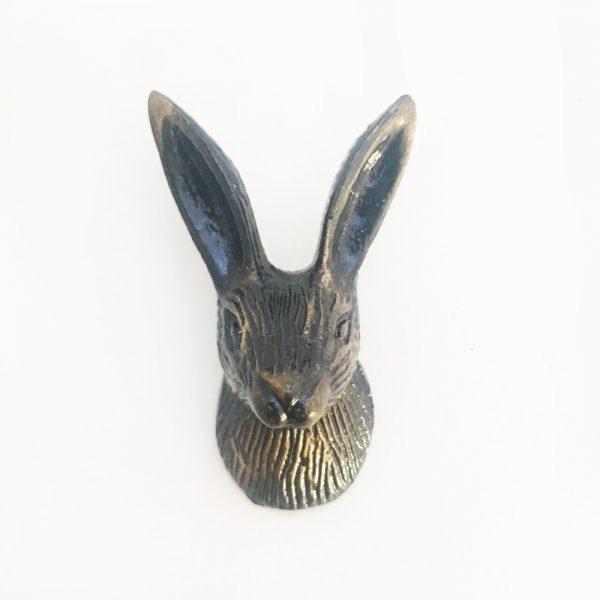 Antique Brass Rabbit Wall Hook