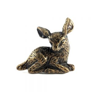 Bambi metal deer knob main 300x300 - Antique Gold Deer Knob