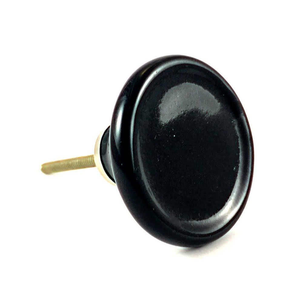 Black Disc Knob 2 1 - Kitchen Drawer Knobs for Every Budget