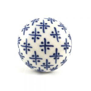 Blue and a White Hamptons Ceramic knob 1 300x300 - Blue and White Hamptons Ceramic Knob