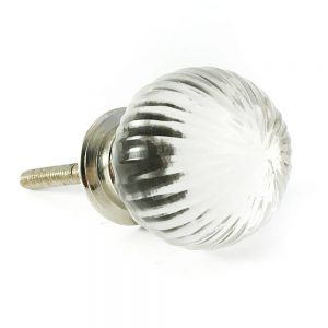 Vintage Round Clear Glass Knob