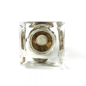 Cube Glass Knob clear 300x300 - Chrome Duck Wall Hook