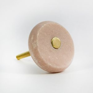 Dusk Pink Marble and Brass Knob main 300x300 - Round Pink Marble and Brass Knob