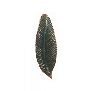 Feathered Knob 3 1 300x300 - Antique Gold Iron Feather Knob