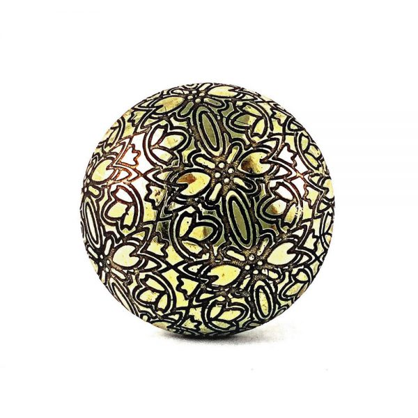 Floral embossed knob 1 1 600x600 - Gold Floral Embossed Knob