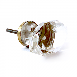 Clear Solid Glass Regency Knob