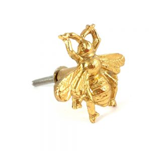 Gold Bumble Bee knob 1 300x300 - Brass Gold Bee Knob