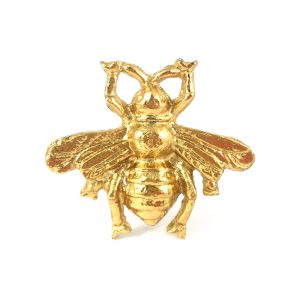 Gold Bumble Bee knob 2 300x300 - Brass Gold Bee Knob