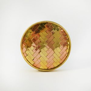 Gold and Copper weave Knob 1 300x300 - Round Two Toned Gold and Copper Weaved Knob