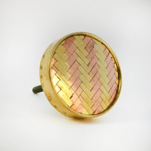 Gold and Copper weave Knob main 300x300 - Round Two Toned Gold and Copper Weaved Knob