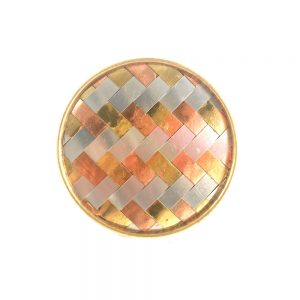 Gold chrome and copper Weaved knob 2 300x300 - Round Copper Gold and Silver Weaved Knob