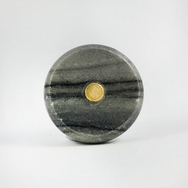 Grey Marble and Brass knob 1 600x600 - Round Grey Marble and Brass Knob