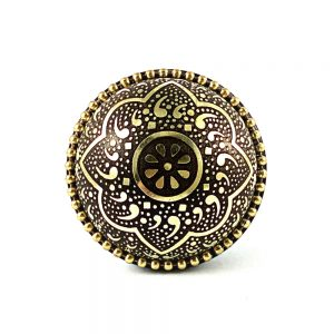 Metal Flower Knob 1 1 300x300 - Round Gold and Black Flower Knob