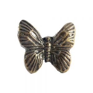 Antique Gold Butterfly Knob