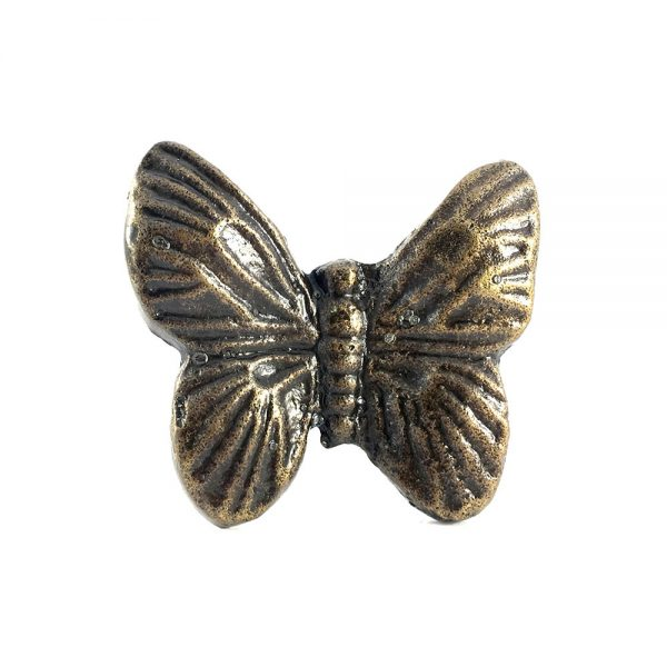 Metal butterfly knob 1 600x600 - Antique Gold Butterfly Knob
