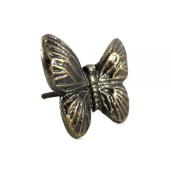 Metal butterfly knob main 600x600 - Antique Gold Butterfly Knob