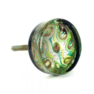 Solid Glass Peacock Knob