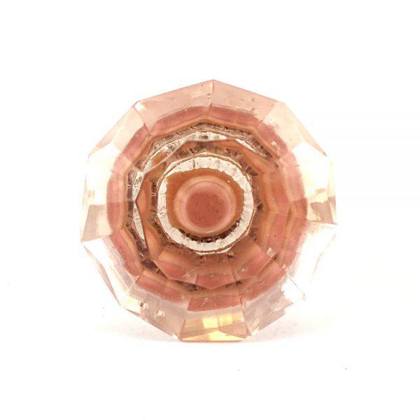 Pink Solid Glass Jewel Knob