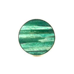 Round Layered Knob green 300x300 - Discoid Knob - Green