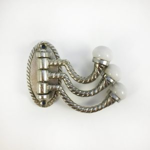 Silver 3 arm swivel hook main 300x300 - Silver Trio Swivel Wall Hook