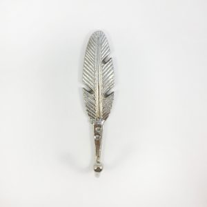 Silver feather hook 1 300x300 - Silver Feather Wall Hook