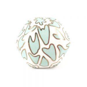 Teal and gold printed ceramic knob 2 300x300 - Geometric Ceramic Knob