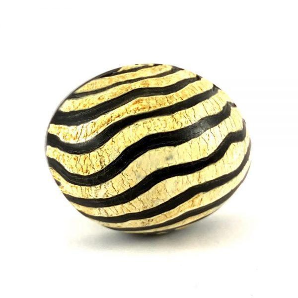 Oval Zebra Print Safari Knob