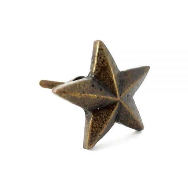 antique gold star knob 1 600x600 - Antique Gold Star Knob